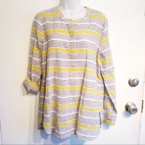 🌟5 for $25🌟 OLD NAVY Striped Linen Tunic